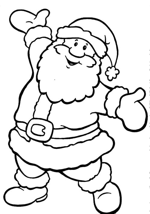 499x713 Santa Claus Coloring Pages For Kids Merry Christmas