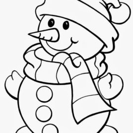 268x268 Santa Coloring Pages For Kids All About Coloring Pages