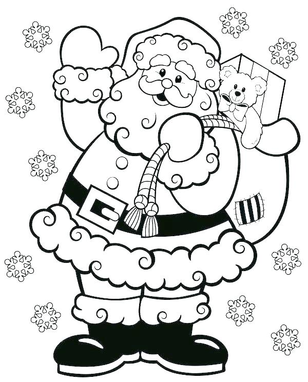 600x744 Santa Coloring Pages Free Coloring Pages Of Coloring Pages Jolly