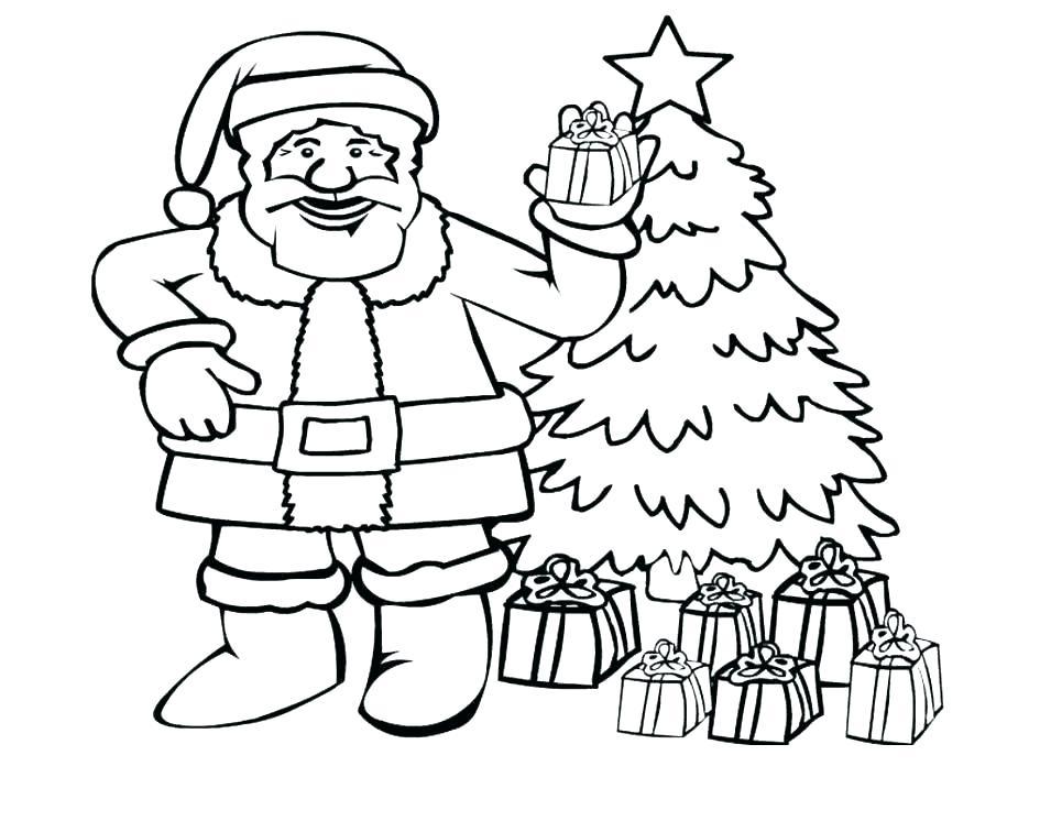 945x746 Santa Coloring Pages Printable Free For Kids Christmas Crayola