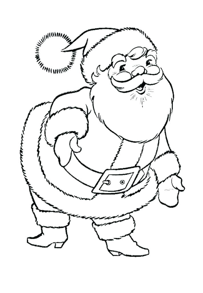 712x1024 Free Cute Coloring Page Coloring Pages Of Santa Cute Coloring Page