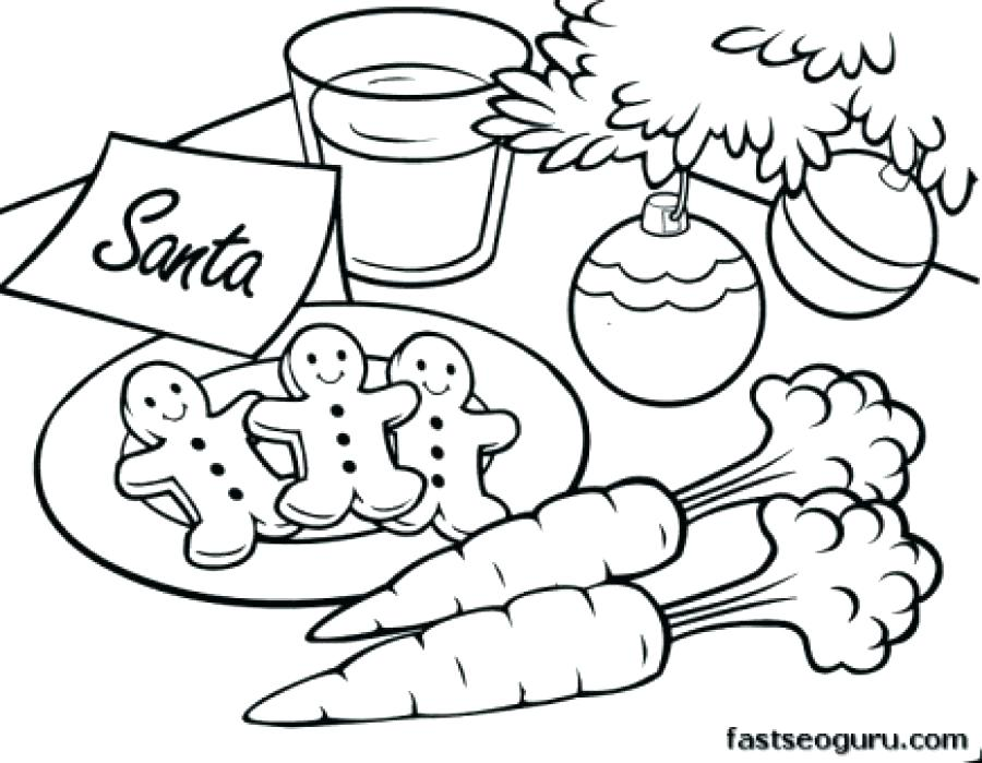 900x699 Printable Santa Coloring Pages Free Christmas And Pictures Page