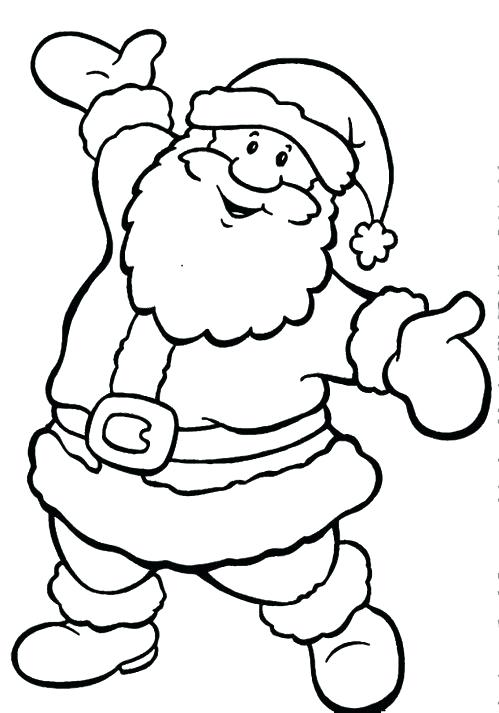 499x713 Santa Coloring Page On Coloring Page Free Printable Santa Sleigh