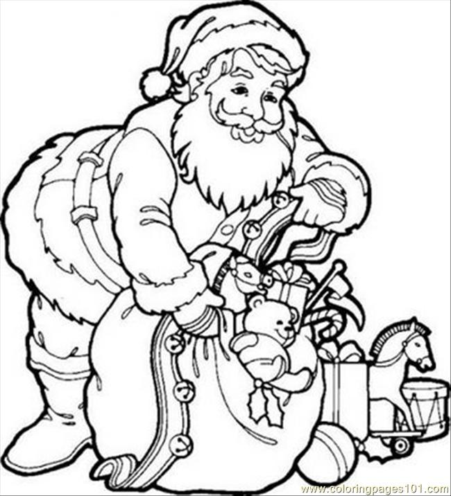 650x716 Santa Coloring Pages Pdf