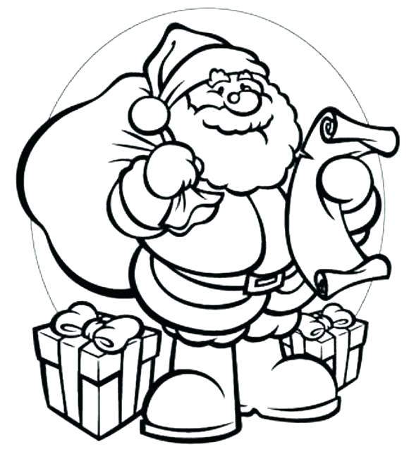 580x638 Santa Coloring Pictures Ing Santa Claus Hat Coloring Page