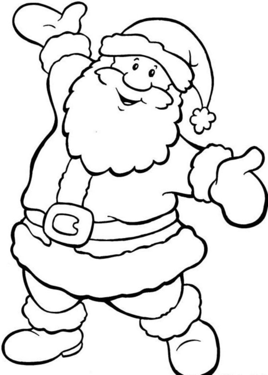 903x1260 Santa Colouring In Pictures Free