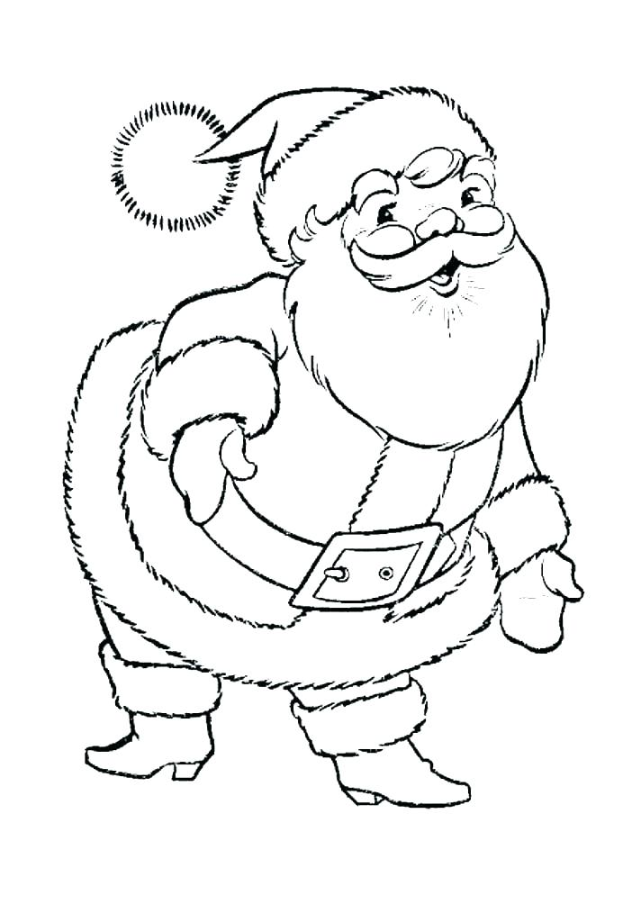 712x1024 Coloring Santa Coloring Sheets Printable Free Merry Pages Xmas