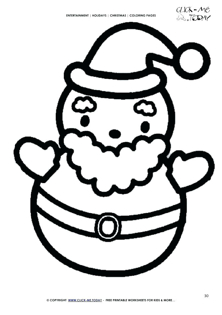 745x1053 Santa Coloring Pages Printable