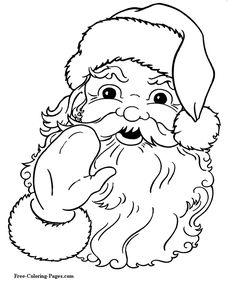 236x288 Christmas Coloring Pages Free Printable, Free And Santa
