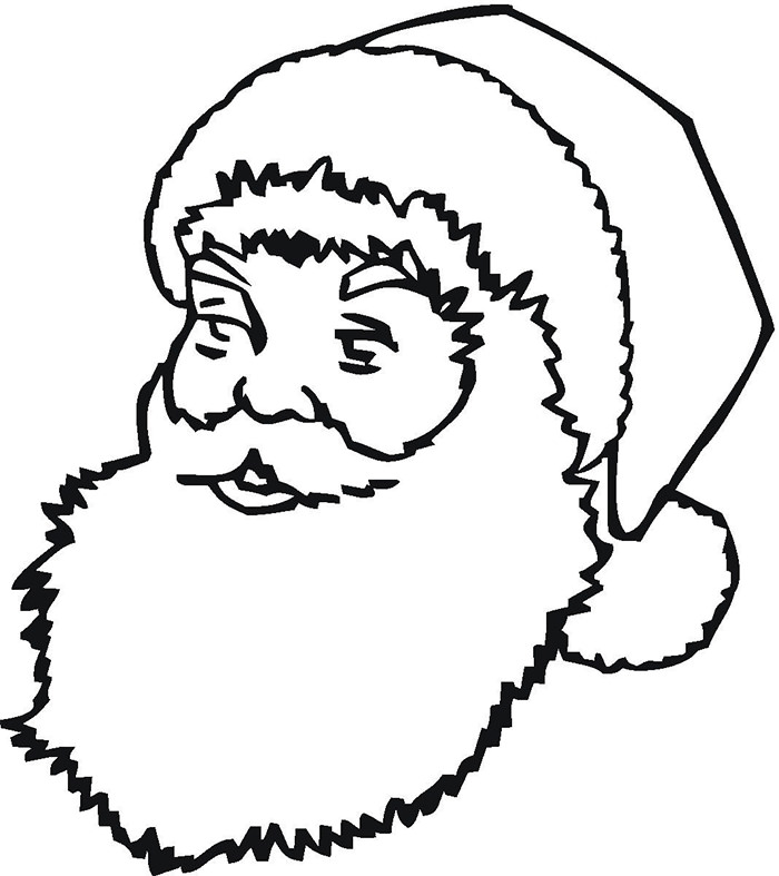700x787 Best Santa Templates Shapes, Crafts Colouring Pages Free