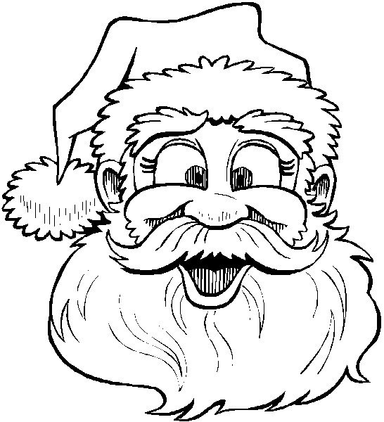 546x600 Face Of Santa Claus Coloring Pages