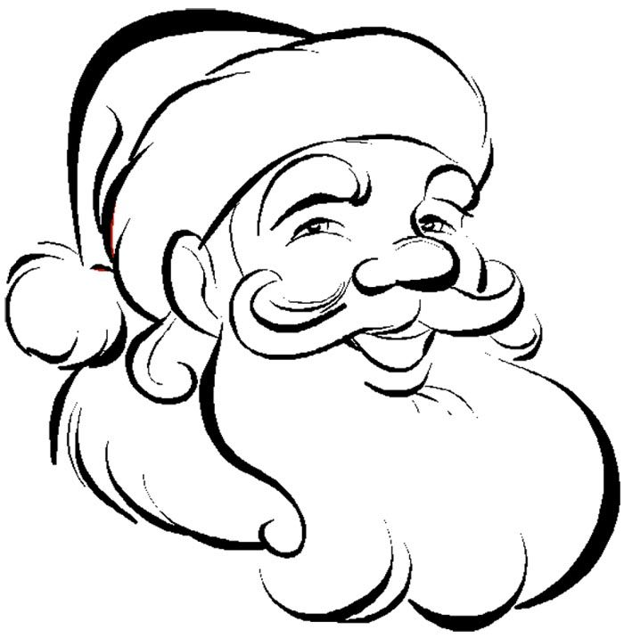 700x716 Santa Claus Face Coloring Pages