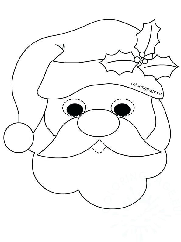 595x793 Santa Face Coloring Page Clause Face Coloring Pages Santa Face