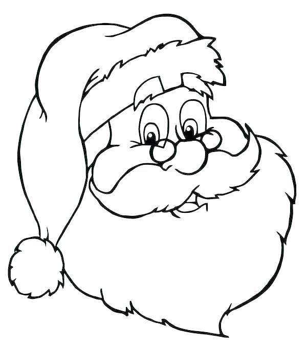 600x680 Santa Face Coloring Page Plush Design Face Coloring Page Free