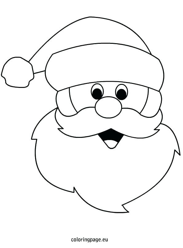 Santa Face Coloring Page At Getdrawings Free For