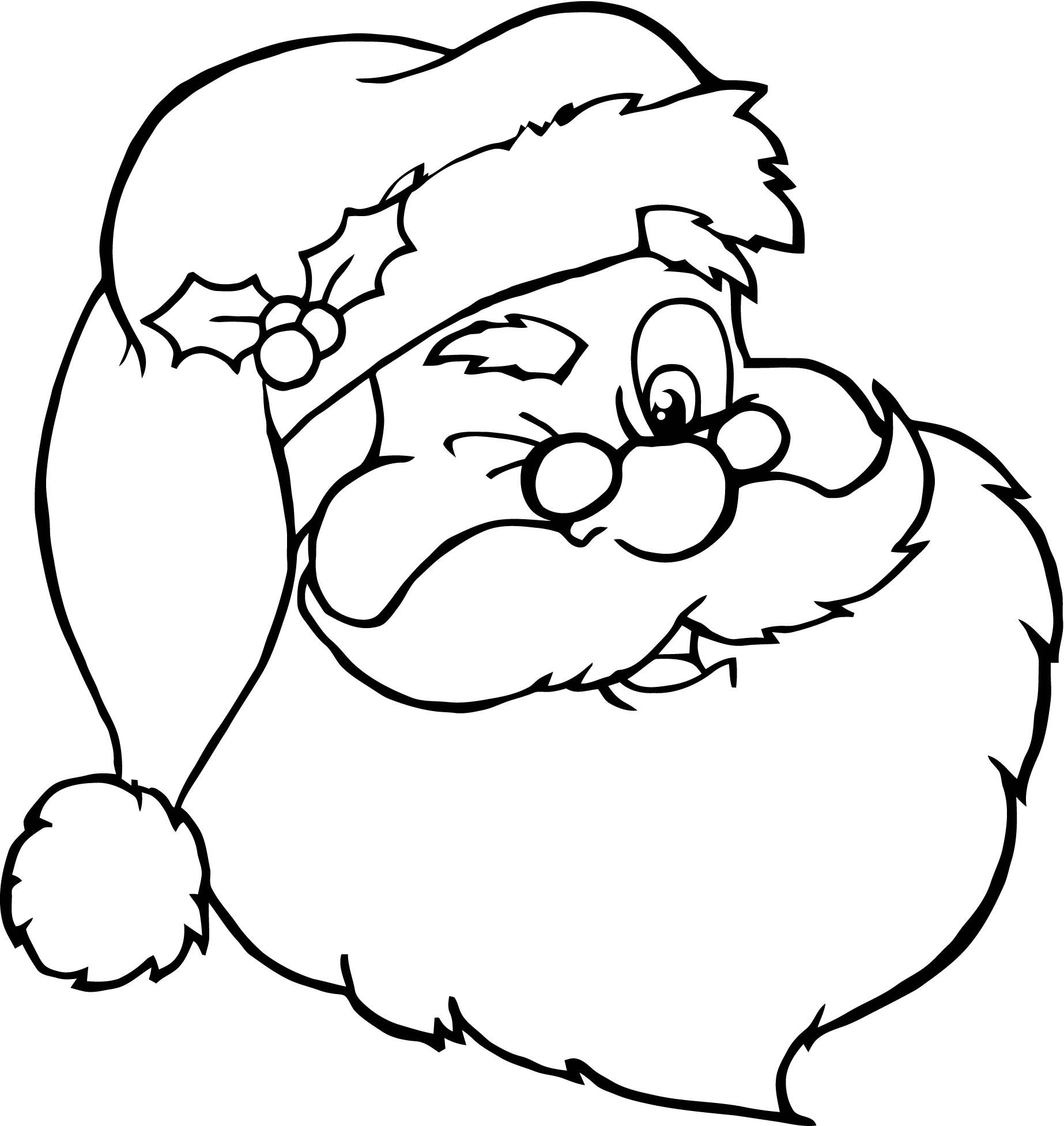 1846x1954 Santa Face Coloring Pages Wagashiya