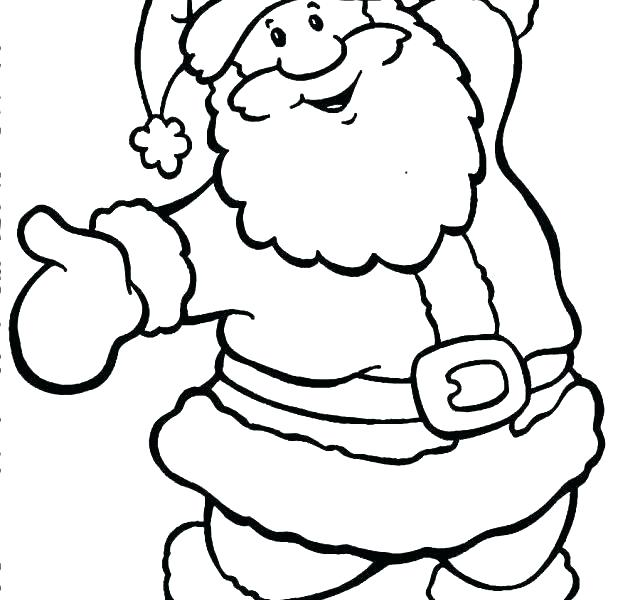 640x600 Santa Face Coloring Pages