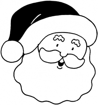 326x350 Christmas Santa Face Coloring Pages