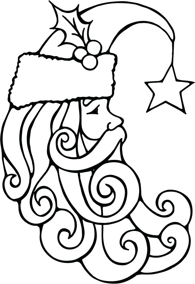 650x943 Santa Face To Color Colorg Colorg Santa Face Coloring Page