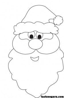 223x338 Christmas Santa Face Printable Coloring Pages