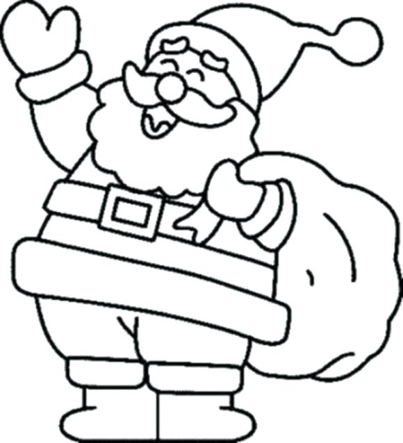 580x638 Colouring Coloring Pages Colouring Santa Face Color Page Melomel