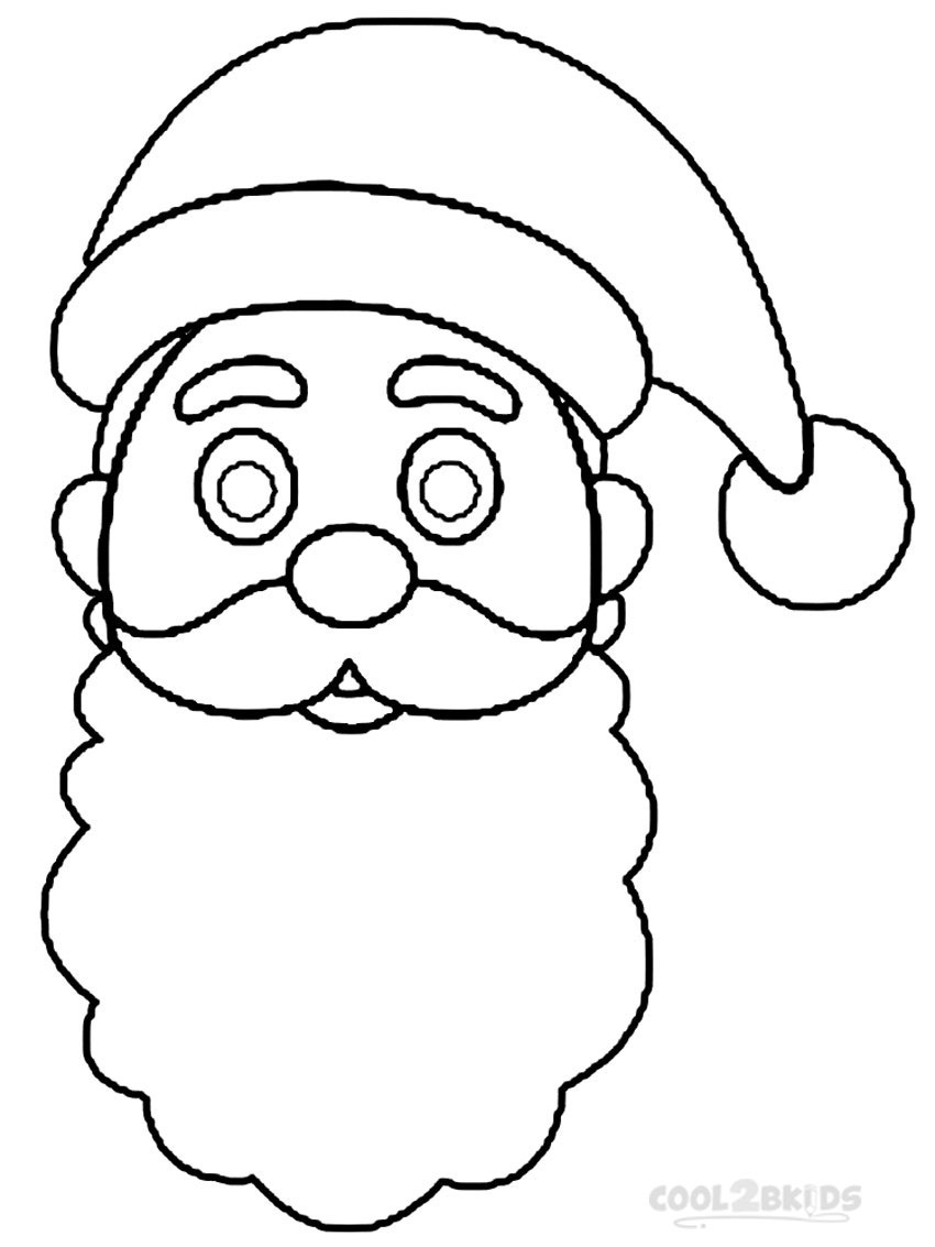 850x1133 Printable Santa Hat Coloring Pages For Kids