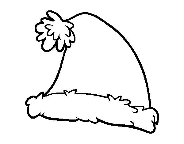 600x470 Santa Hat Coloring Page Images Free Coloring Pages