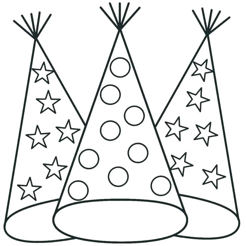 799x799 Santa Hat Coloring Pages Caps In Ca Posted And Hats