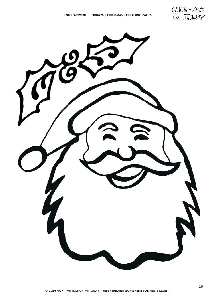 745x1053 Santa Hat Coloring Pages Coloring Pages Face Coloring Page