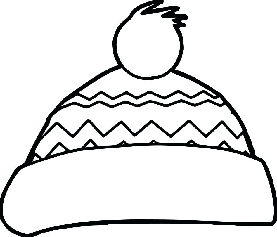 948x811 Santa Hat Coloring Pages Large Size Of Hat Coloring Page