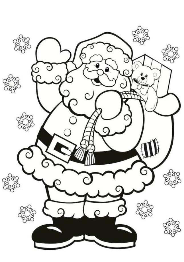 646x917 Santa Claus Colouring