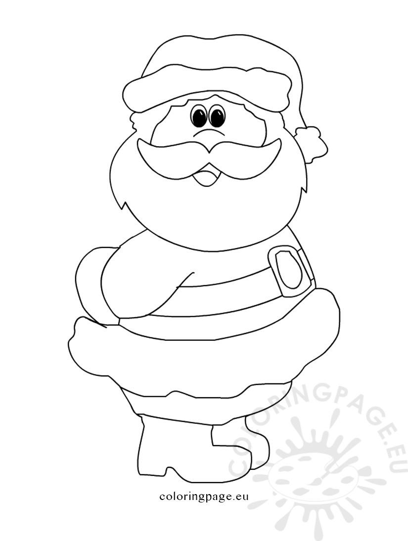825x1095 Printable Santa