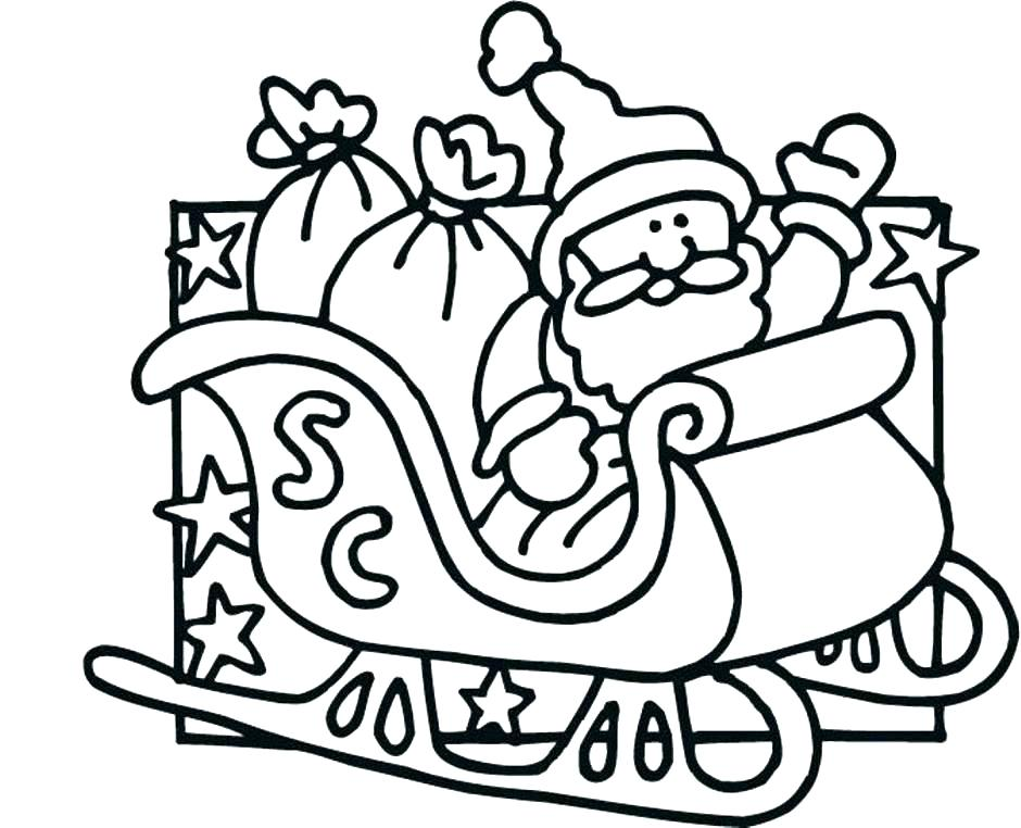 940x762 Santa Coloring Pages Coloring Page Sleigh Coloring Sheets Sleigh