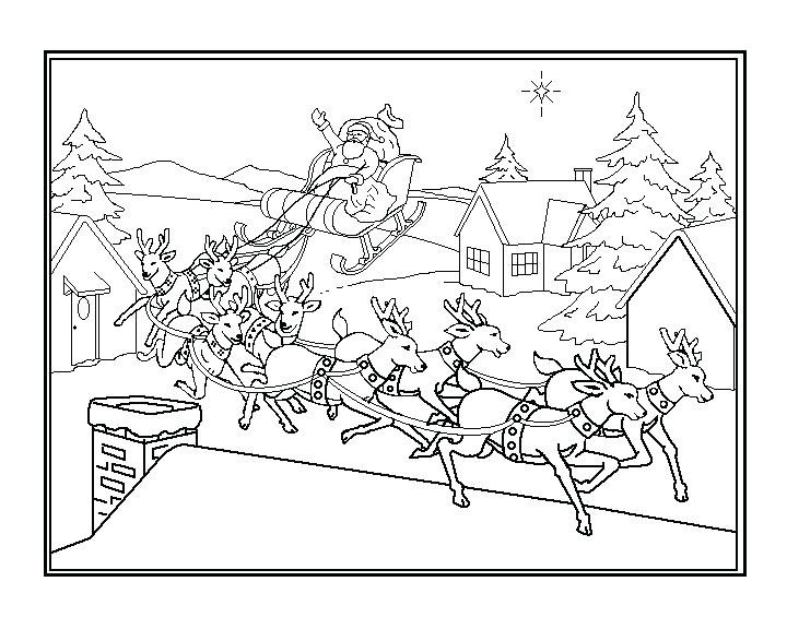 720x576 Santa Sleigh Coloring Page And Sleigh Coloring Pages For Kids Van