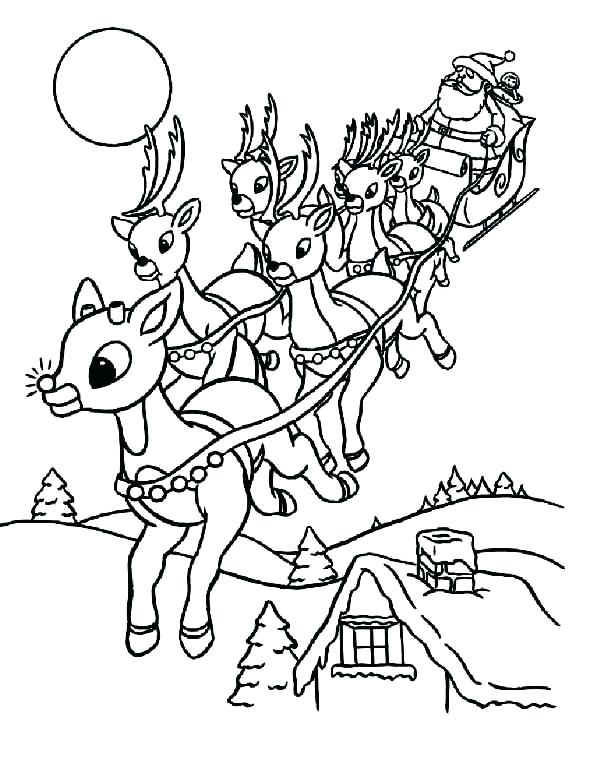 600x776 Santa Sleigh Coloring Page Sleigh Coloring Page Riding Sleigh