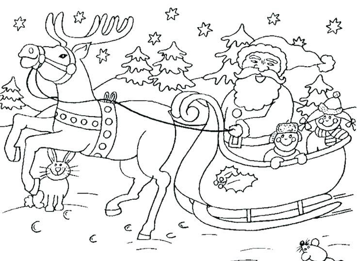 736x537 Santa Sleigh Coloring Page Sleigh Coloring Page Sleigh Coloring