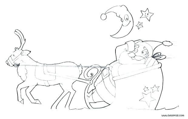 620x394 Santa Sleigh Coloring Pages