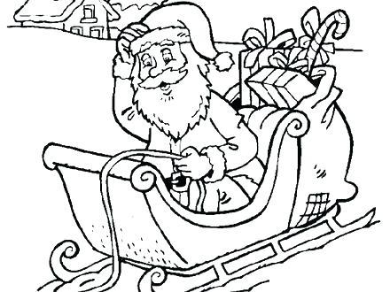 440x330 Santa Sleigh Coloring Page