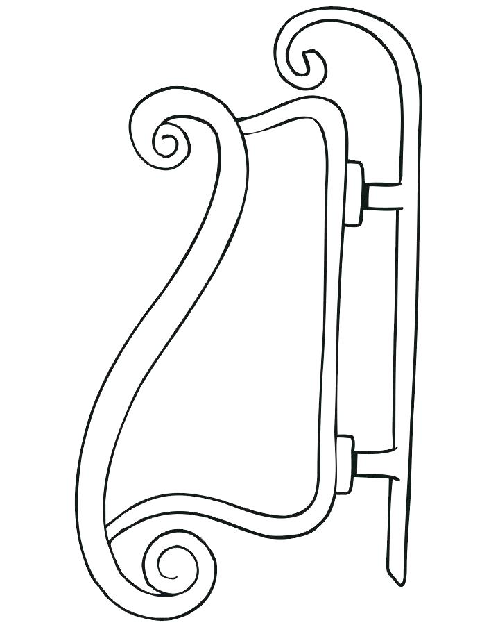 695x900 Santa Sleigh Coloring Page In A Sleigh Coloring Page Sleigh