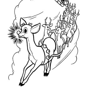 300x300 Rudolph And Clarice Are Santas The Reindeer Coloring Page Color Luna