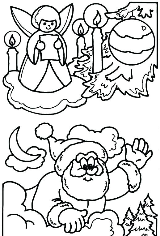518x763 Coloring Page Santa Coloring Pages Frightened Tree And Coloring