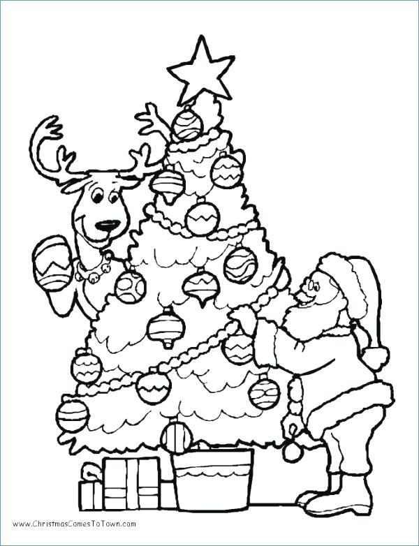 600x782 Coloring Pages Santa Delighted Coloring Pages And Tree Ideas