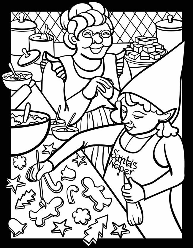 650x836 Santa's Busy Workshop Stained Glass Jr Coloring Book Dover