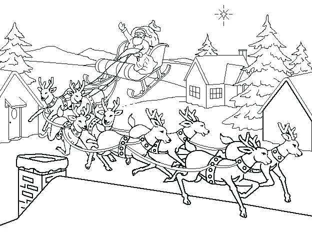 624x464 Christmas Coloring Pages Santa Hippie Coloring Page With Christmas