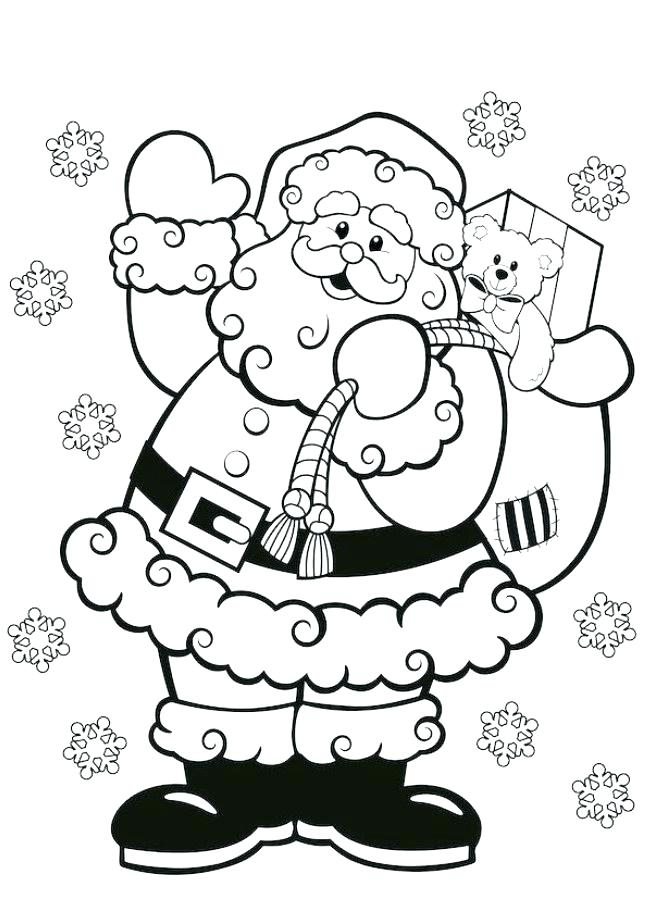 646x917 Santa Color Page Pictures To Color Also Ask The Red Nosed To Lead