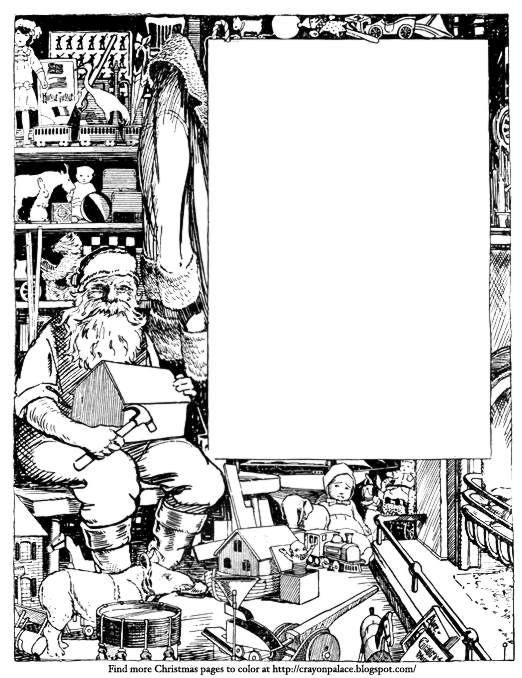 522x678 Color And Write A Letter To Santa Crayon Palace