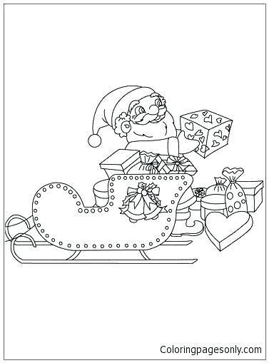377x509 Coloring Page Coloring Page His Sleigh Coloring Page Coloring