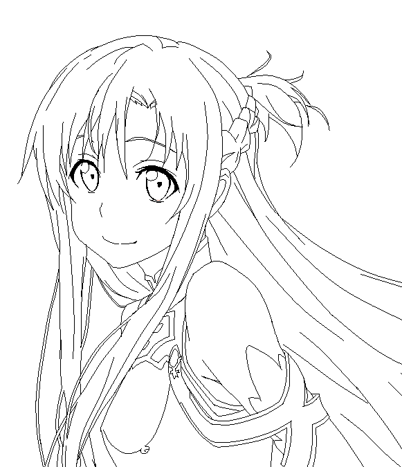 581x675 Lineart Sword Art Online Sword Art