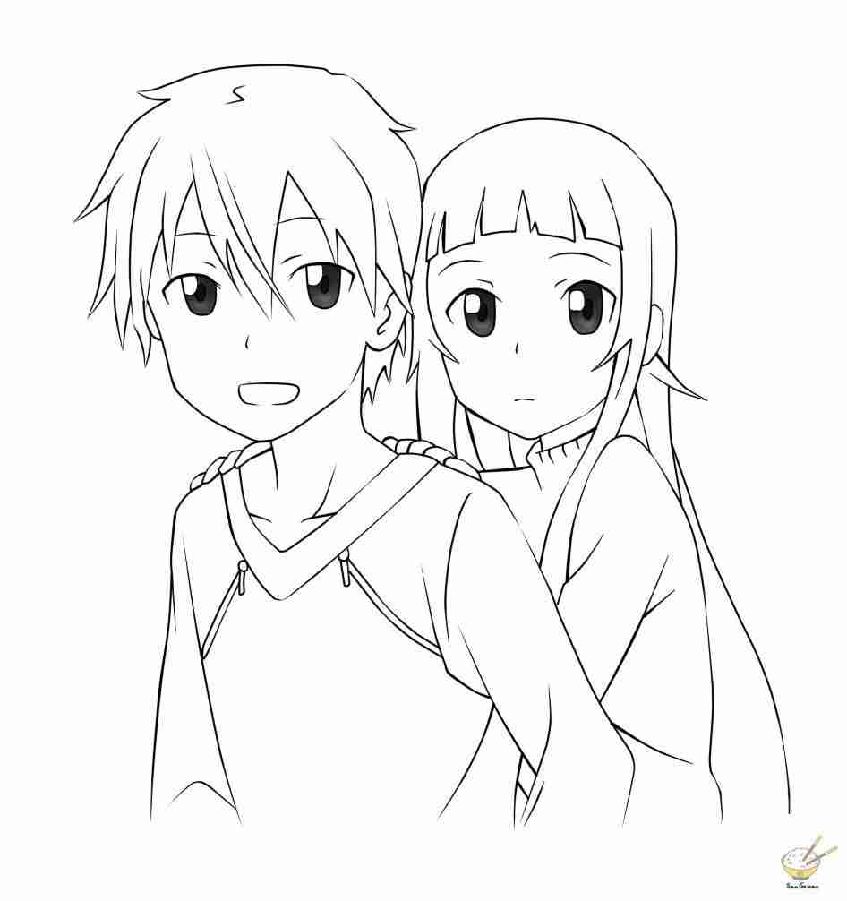 946x1006 Sword Art Online Coloring Pages Extraordinary Sao Olegratiy