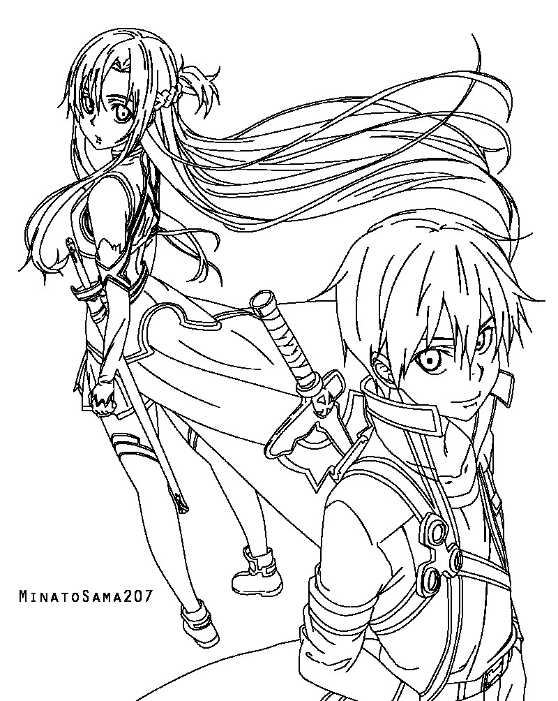 800x1004 Sword Art Online Coloring Pages Jacb Me Unbelievable Asuna